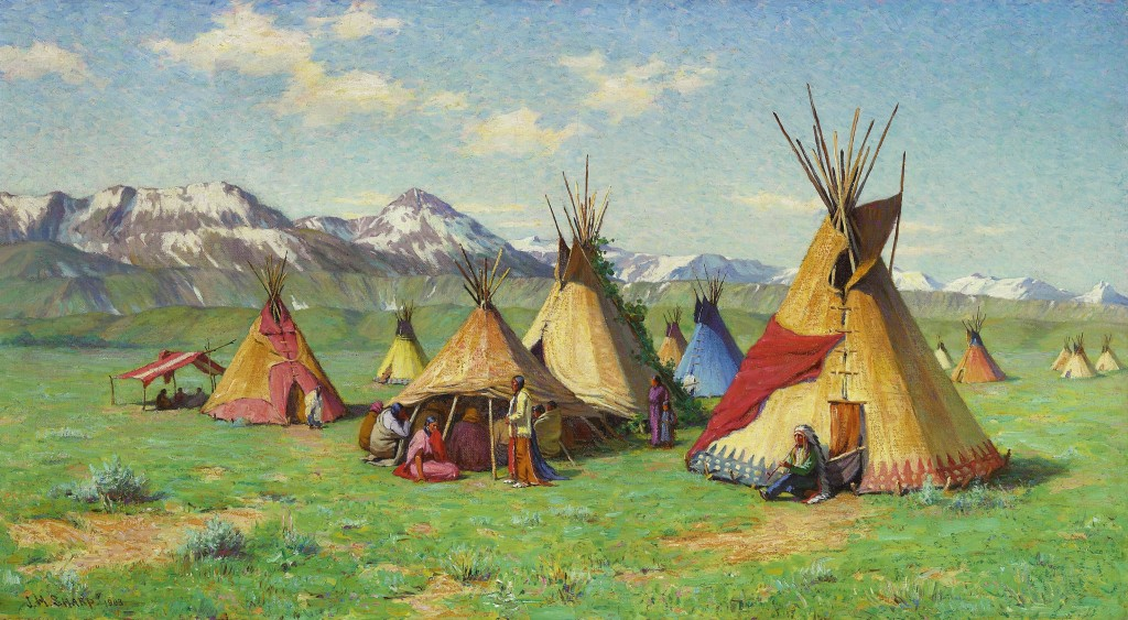 Joseph_Henry_Sharp_-_The_Medicine_Teepee_(1903)