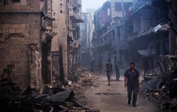 Il quartiere di Shujaiyya, nella Striscia di Gaza (Roberto Schmidt, Afp)